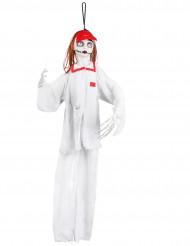 Decoração para pendurar enfermeira branca Halloween