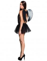 Tutu preto com asas mulher