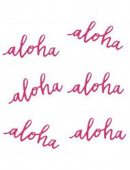 6 Decorações de mesa Aloha