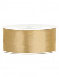 Fita acetinada dourada 2.5 cm x 25 m