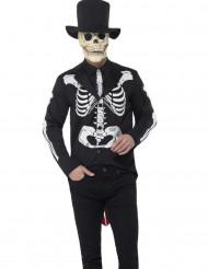 Disfarce esqueleto chique homem Dia de los muertos