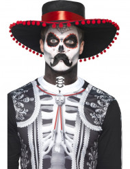 Kit maquilhagem esqueleto mexicano Dia de los muertos adulto