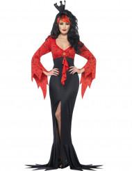 Disfarce maléfico rainha morcego mulher Halloween