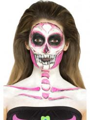 Maquilhagem látex esqueleto fosforescente mulher Halloween