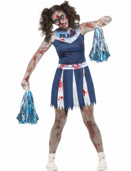 Disfarce pom-pom-girl zombie adolescente Halloween
