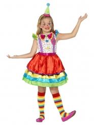 Disfarce palhaço com saia colorida menina