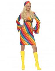 Disfarce hippie arco-íris mulher