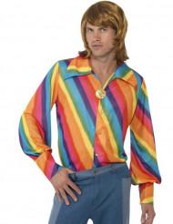 Camisa arco-íris homem