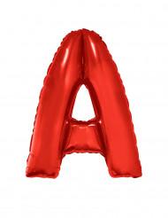 Balão alumínio letra A vermelha