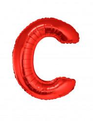 Balão alumínio letra C vermelha
