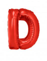 Balão alumínio letra D vermelho