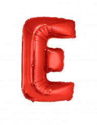 Balão alumínio letra E vermelho