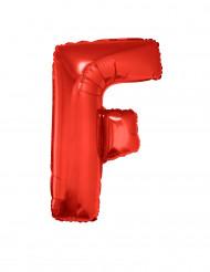 Balão alumínio letra F vermelho