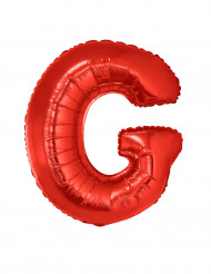 Balão alumínio letra G vermelha