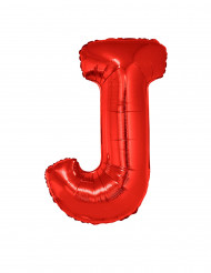 Balão alumínio letra J vermelha