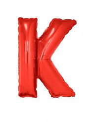 Balão alumínio letra K vermelha