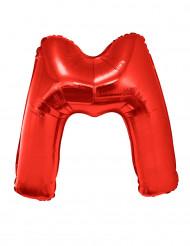 Balão alumínio letra M vermelha