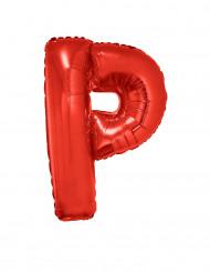 Balão alumínio letra P vermelha