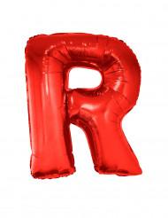 Balão alumínio letra R vermelha