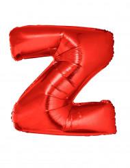 Balão alumínio letra Z vermelha