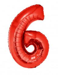 Balão alumínio número 6 vermelho