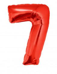 Balão alumínio número 7 vermelho
