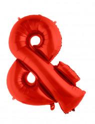 Balão alumínio símbolo & vermelho