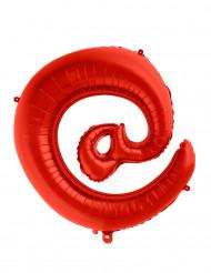 Balão alumínio símbolo @ vermelho