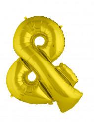 Balão alumínio gigante símbolo & dourado 80 cm