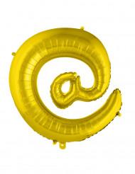 Balão alumínio símbolo @ dourado