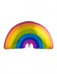 Balão de alumínio arco-íris gigante 60 x 95 cm
