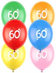 12 Balões coloridos número 60