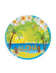 8 Pratos de cartão Aloha