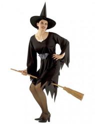 Disfarce bruxa clássica Halloween mulher