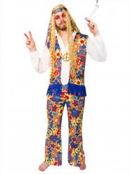 Disfarce hippie com flores homem