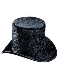 Chapéu alto veludo preto