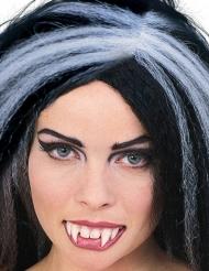 Dentadura postiça de vampiro com cola