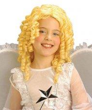 Peruca anjo loiro criança