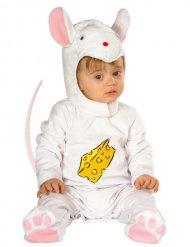 Disfarce rato branco bebé