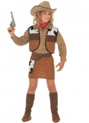 Disfarce cowgirl castanho menina