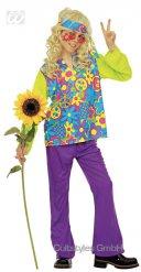 Disfarce hippie criança colorida