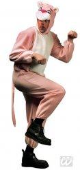 Disfarce felino cor-de-rosa adulto
