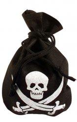 Bolsa pirata preta com caveira