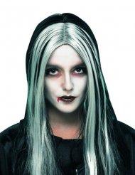 Peruca comprida cabelos compridos mulher Halloween
