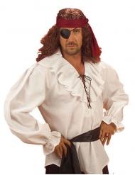 Camisa de pirata branca para homem