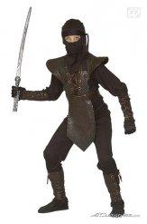 Disfarce guerreiro ninja criança castanho