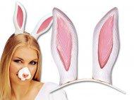 Bandolete orelhas de coelho branco adulto