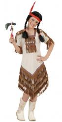Disfarce squaw índia bege menina
