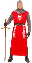 Disfarce cavaleiro vermelho adulto