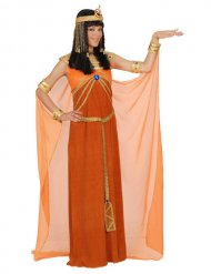 Disfarce Cleópatra mulher cor de laranja